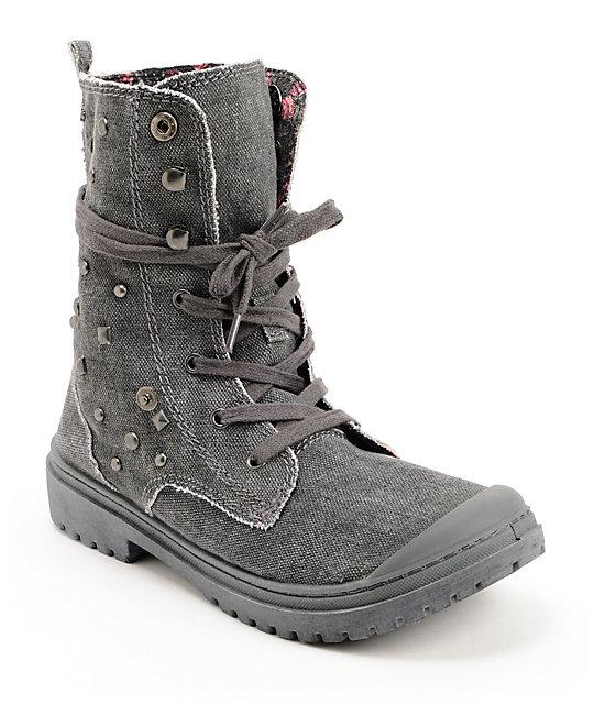 Roxy Needham Dark Grey Studded Boots
