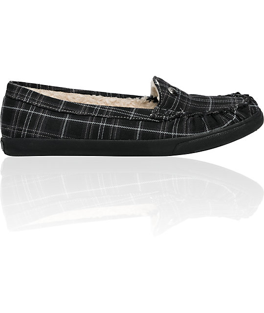 Roxy Piccolo Black & Navy Slip-Ons