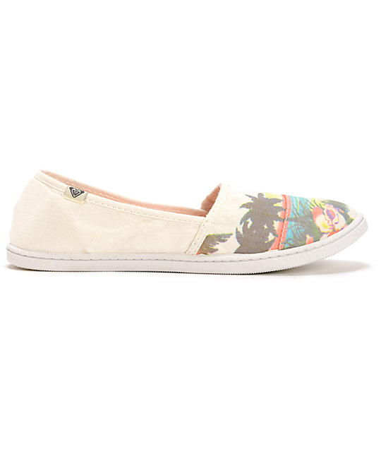 Roxy Pier II Scenic White Slip On Shoes