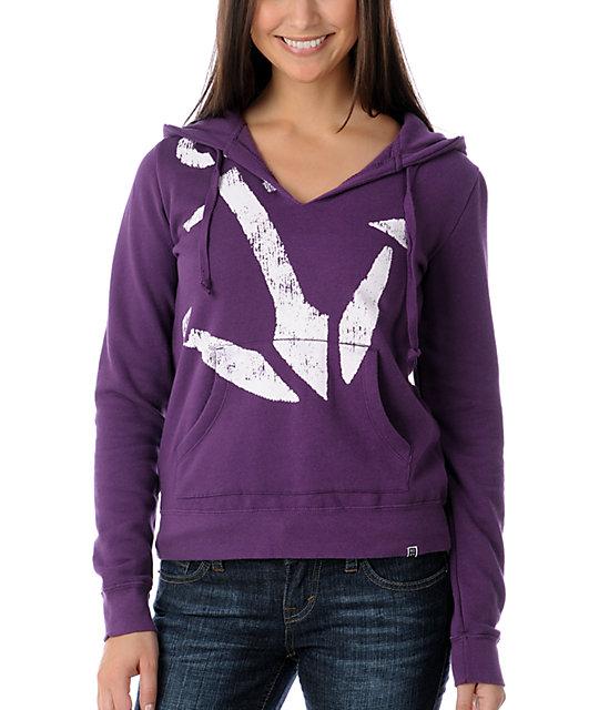 Roxy Quarter Purple Hoodie
