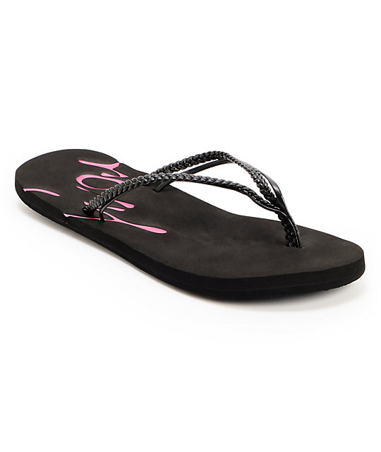 Roxy Rio Black Flip Flop Sandals