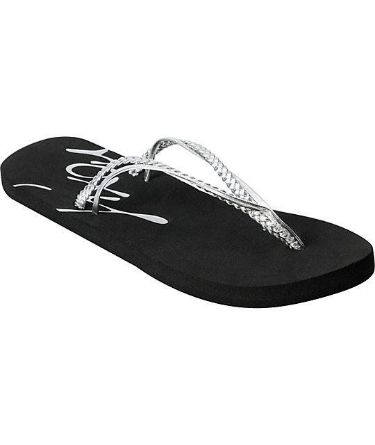 Roxy Rio Silver Flip Flop Sandals