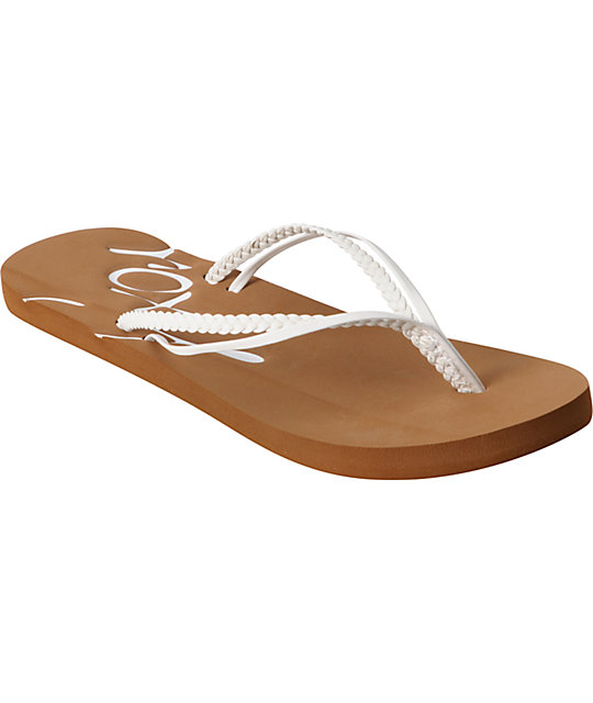 Roxy Rio White Flip Flop Sandals
