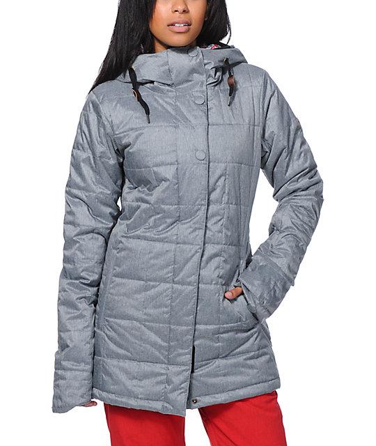 Roxy Risky Business Grey Insulated Snowboard Jacket