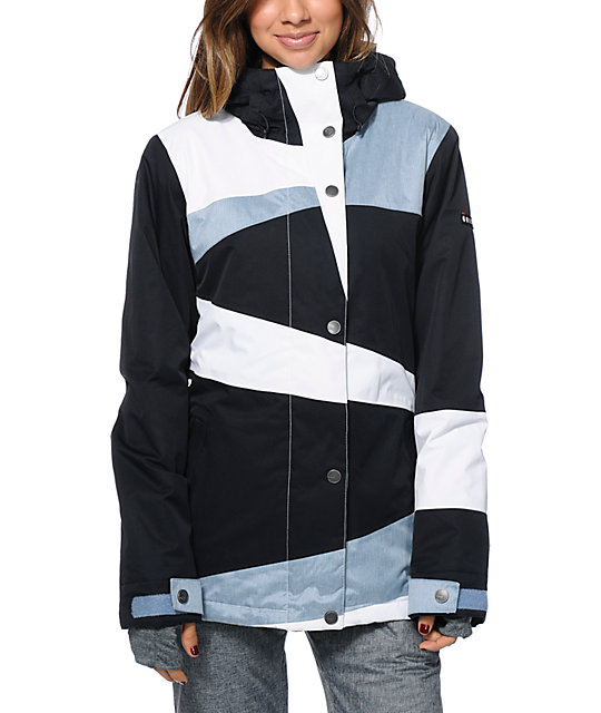 Roxy Rydell Black & White 10K Snowboard Jacket