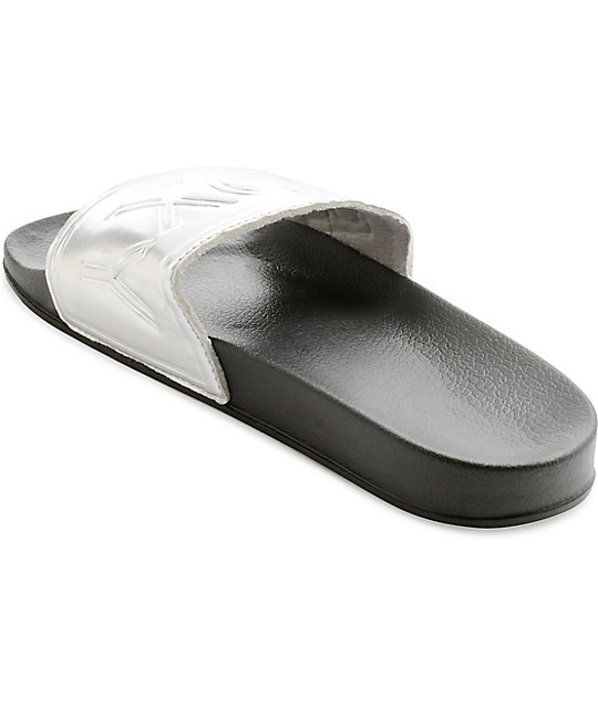 Roxy Slippy Slide Silver Slide Sandals