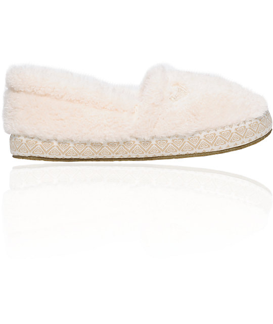 Roxy Snickerdoodle Cream Slippers