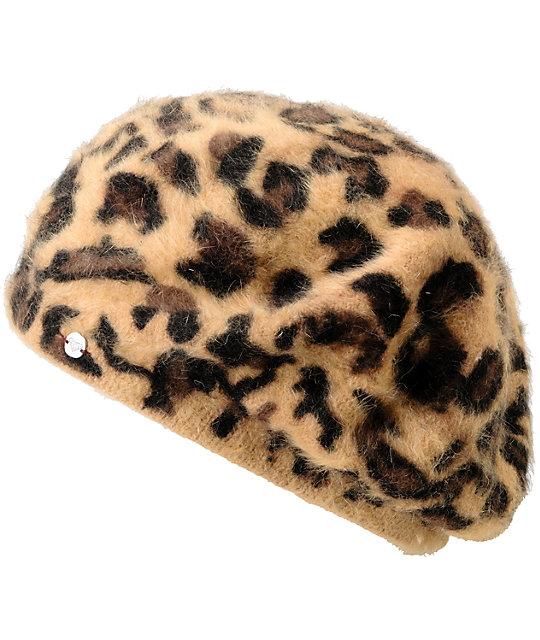 Roxy Sprinkle Leopard Slouchy Beanie