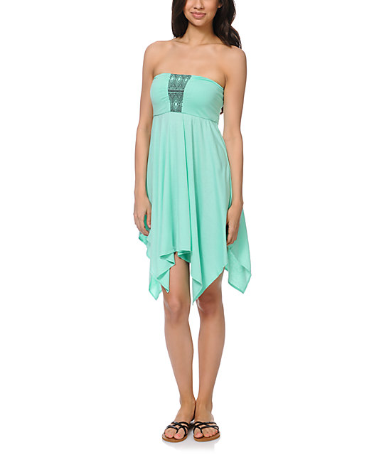 Roxy Summer Bliss Mint Strapless Dress
