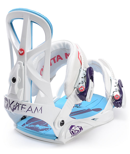 Roxy Team White Snowboard Bindings