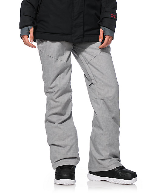 Roxy Winter Break Grey Textile 10K Snowboard Pants