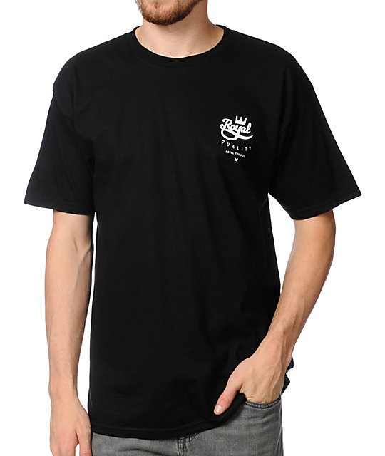 Royal Trucks Crown Crest Black T-Shirt