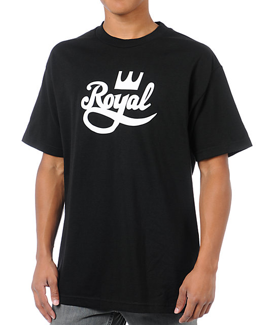 Royal Trucks Crown Script Black T-Shirt