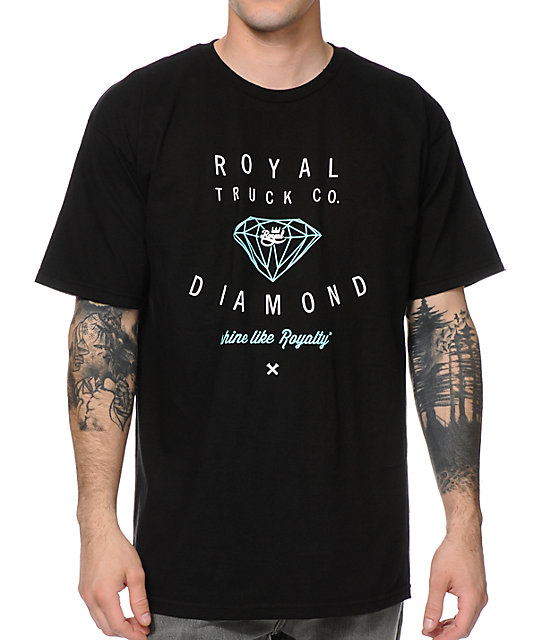 Royal x Diamond Black T-Shirt