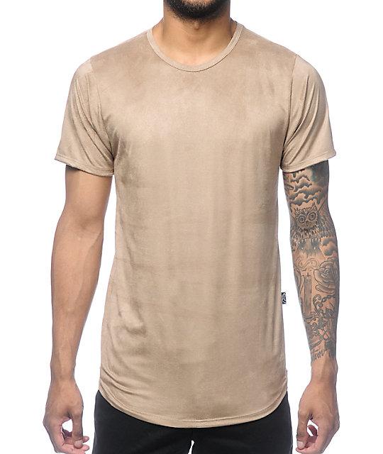 rustic dime khaki suede tall t shirt