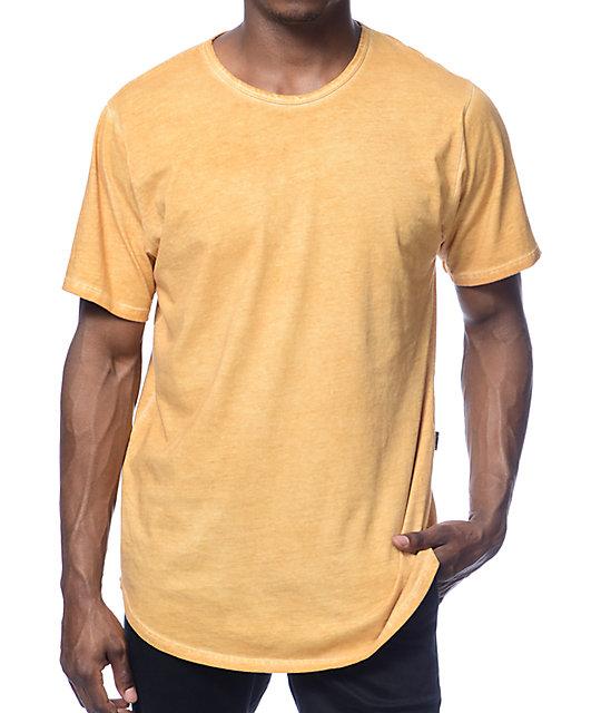 Rustic Dime Long Gold Oil Wash T-Shirt