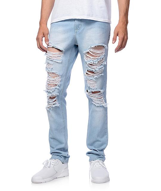Rustic Dime Saint Vernon Shred Taper Jeans