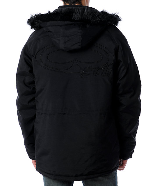 SRH Bomber Black Jacket
