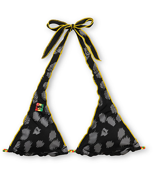 SRH Reversable Cheetah Halter Bikini Top