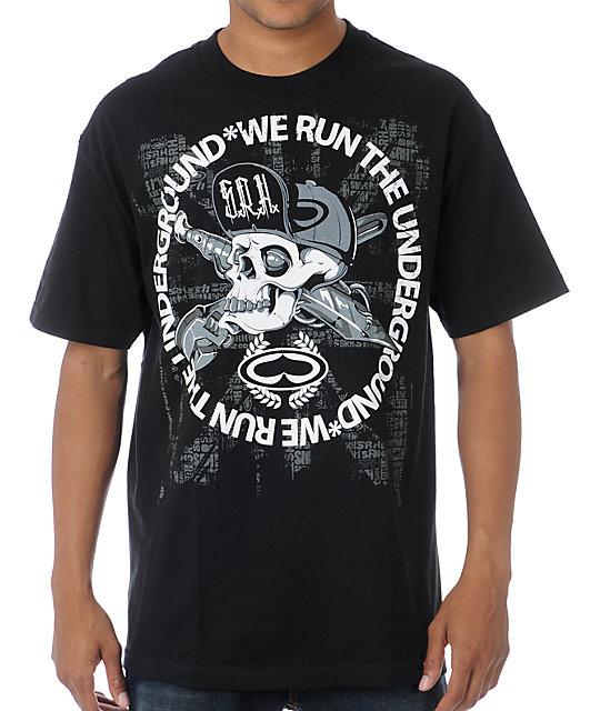 SRH Skull Flip Black T-Shirt