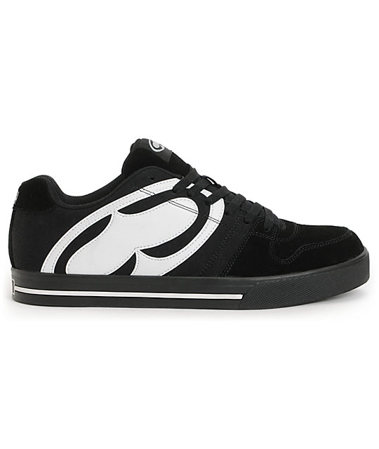 SRH Smooth Ride Black & White Skate Shoes
