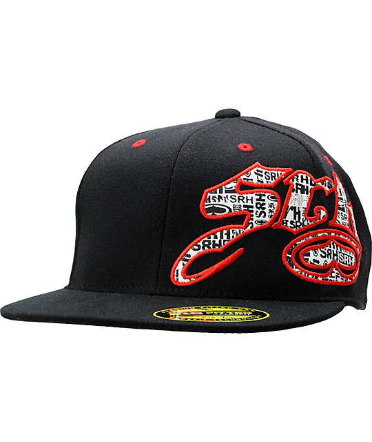 SRH Snake Bite Black & Red Flexfit Hat