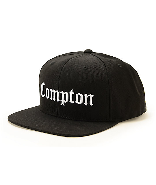 ssur compton black snapback hat at zumiez   pdp