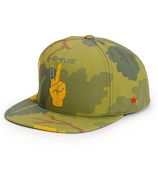SSUR One Finger Peace Platoon Snapback Hat