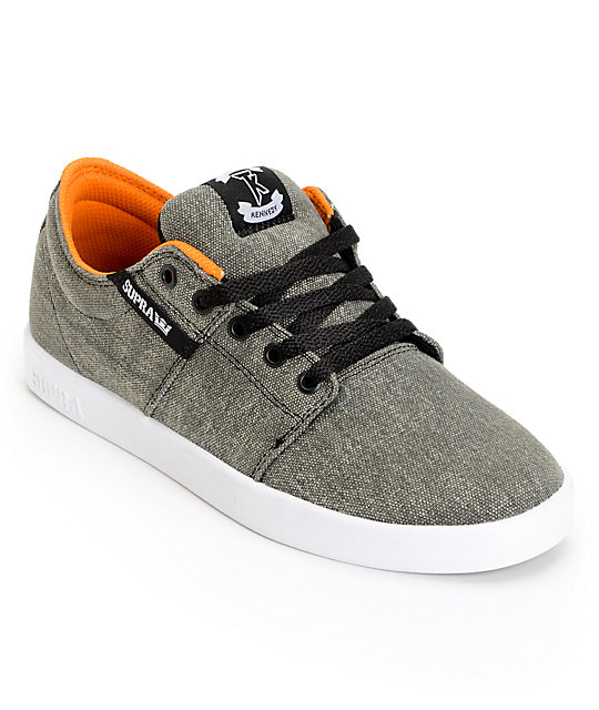 SUPRA Stacks Grey Pavement Canvas Shoes
