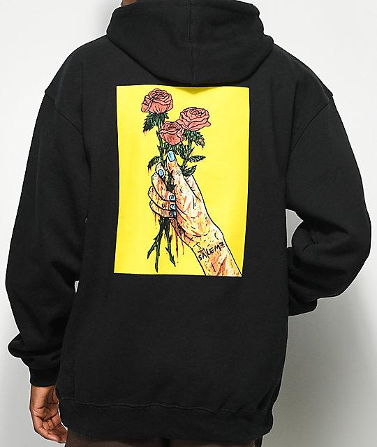 Salem7 roses black hoodie zumiez for T shirt designers near me