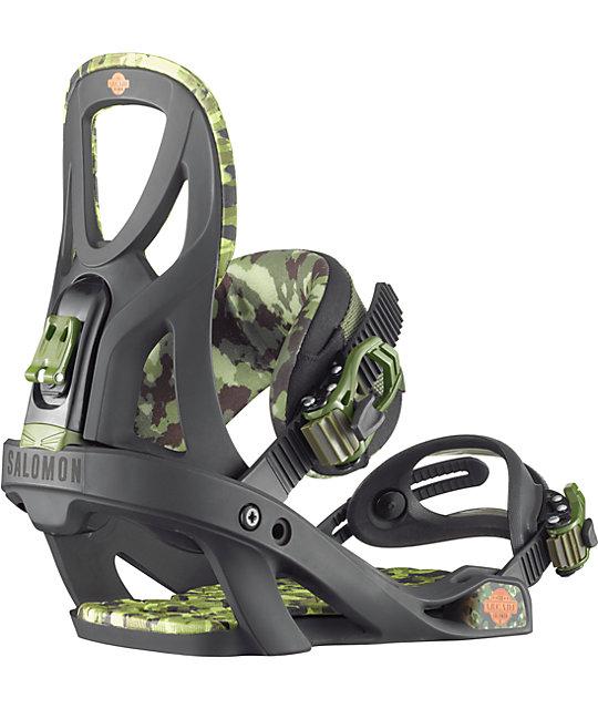 Salomon Arcade Black & Camo Snowboard Binding