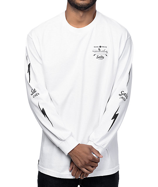 Salty crew dash white long sleeve t shirt zumiez for What is a long sleeve t shirt