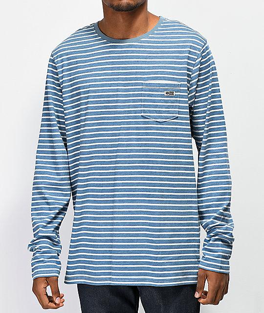 Salty Crew Camiseta Larga Azules Rayas Scallywag De Manga L3j4A5R