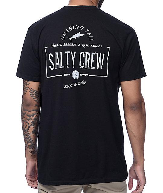 Salty Crew Seeker Black T Shirt by Salty Crew