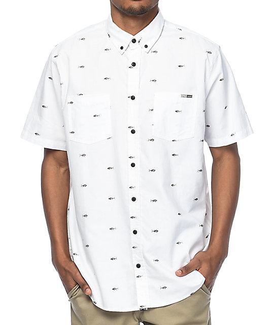 Salty Crew Tuna White Button Up Woven Shirt