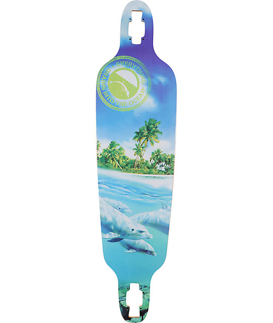 "San Clemente Everything Drains 10""  Bamboo Longboard Deck"
