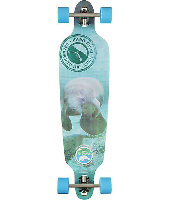 "San Clemente Everything Drains Manatee 39.75""  Longboard Complete"