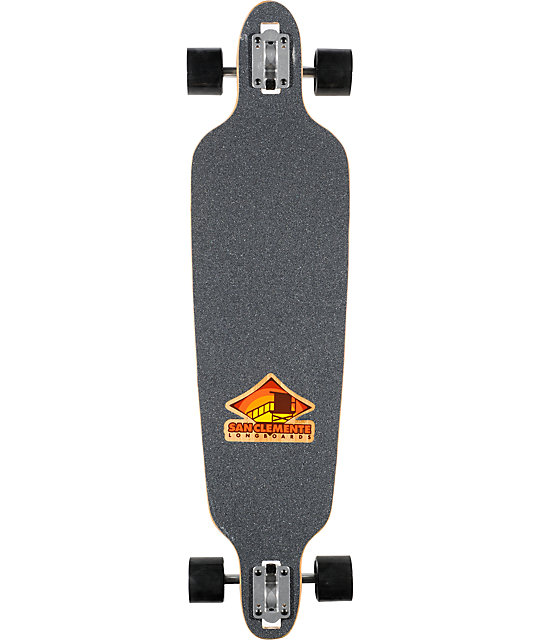 "San Clemente Everything Drains Orca 39.75""  Longboard Complete"