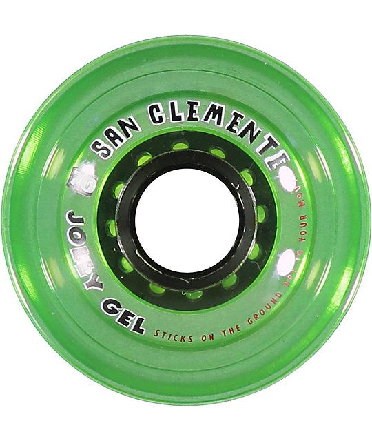 San Clemente Jolly Gel Green Apple 70mm Longboard Wheels