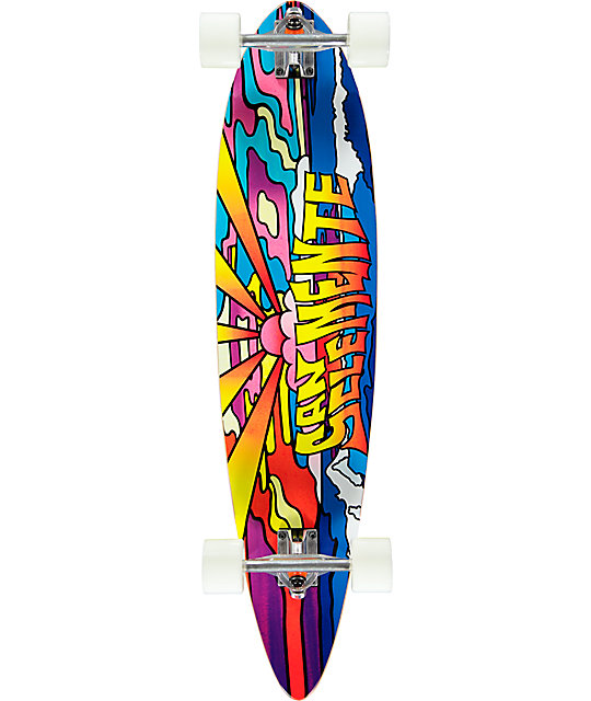 "San Clemente Stained Glass 4 38"" Pintail Longboard Complete"