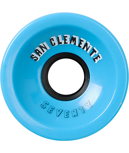 San Clemente Summer Blue 70mm Longboard Wheels