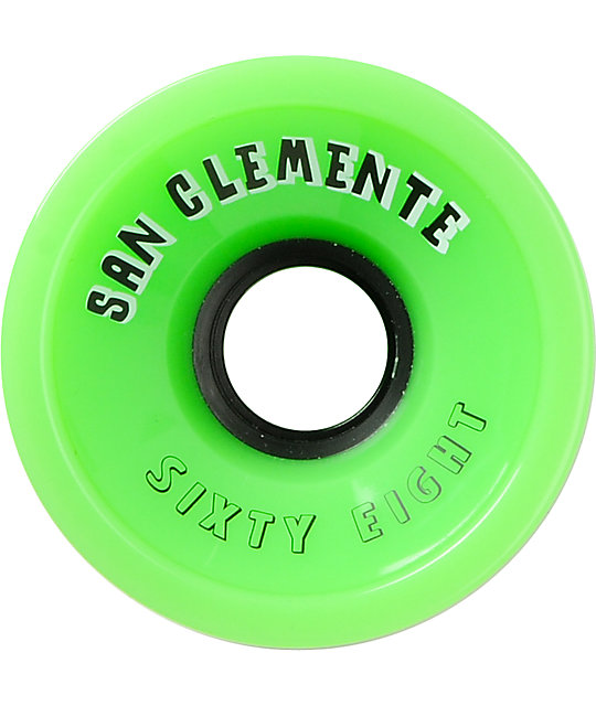 San Clemente Summer Green 68mm Longboard Wheels