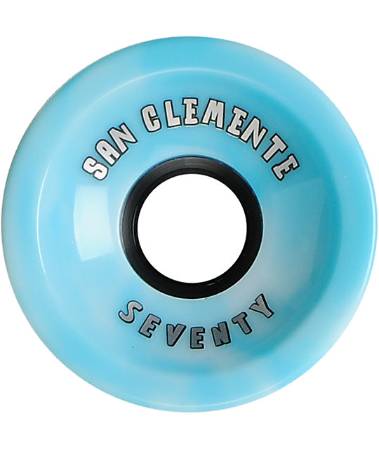 San Clemente Summer Swirl Blue 70mm Skateboard Wheels