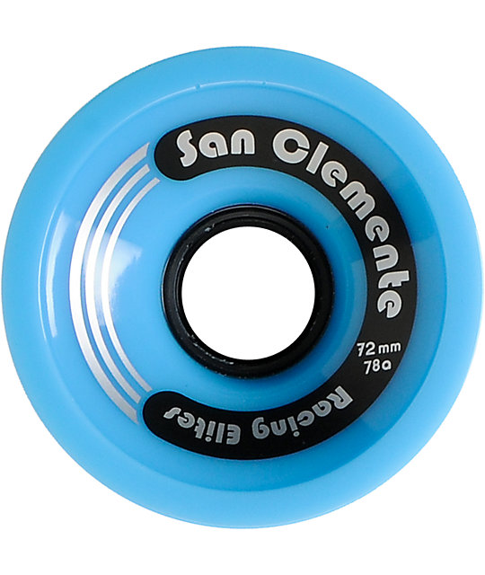San Clemente Whirl Wind Blue 72mm 78a Skateboard Wheels