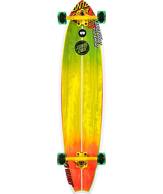 "Santa Cruz Big Wave Rasta 42""  Longboard Complete"