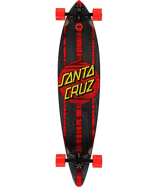 """Santa Cruz Black Mahaka 43""""  Pin TailLongboard"""