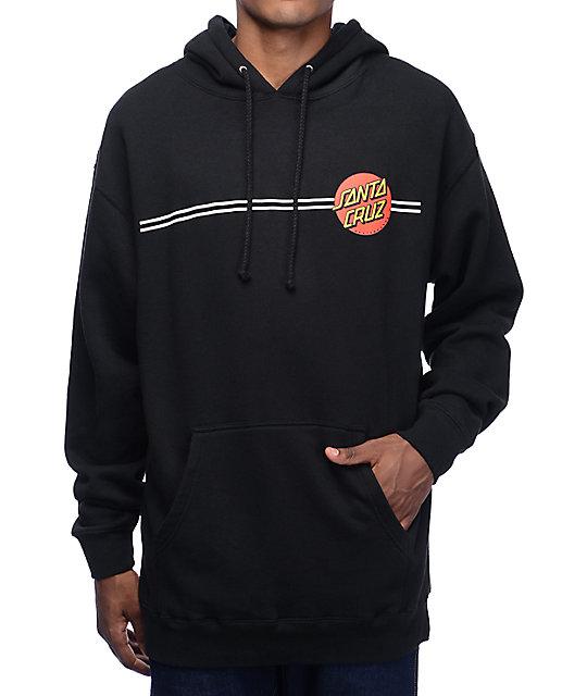 Santa Cruz Classic Dot Black Hoodie