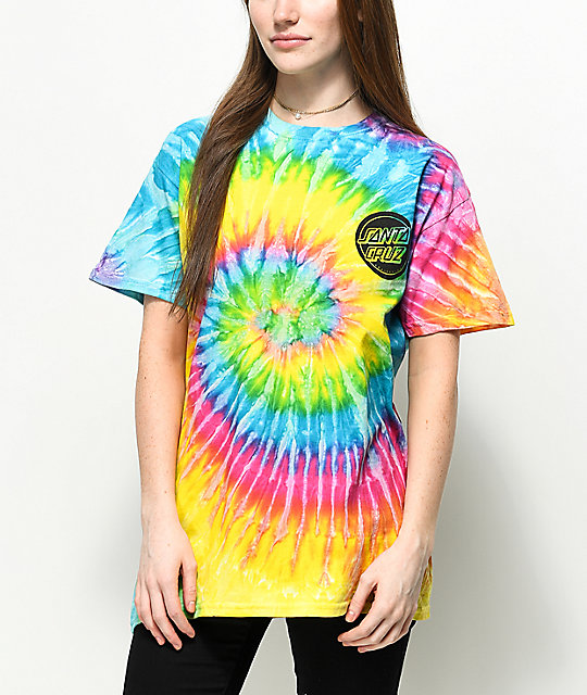 Santa Cruz Handled Saturn Tie Dye T-Shirt