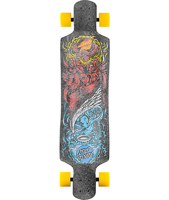 "Santa Cruz Heads Or Tails 40""  Drop Down Longboard"
