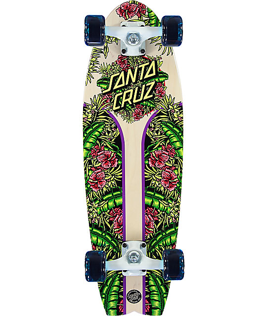 """Santa Cruz Island Dot Shark 27.7"""" Cruiser Complete Skateboard"""